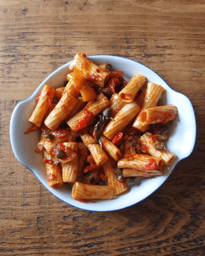 La Doyenne Wellbeing Recipes Caponata Pasta
